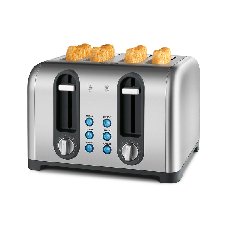 4 Slice Brushed Stainless Steel Toaster