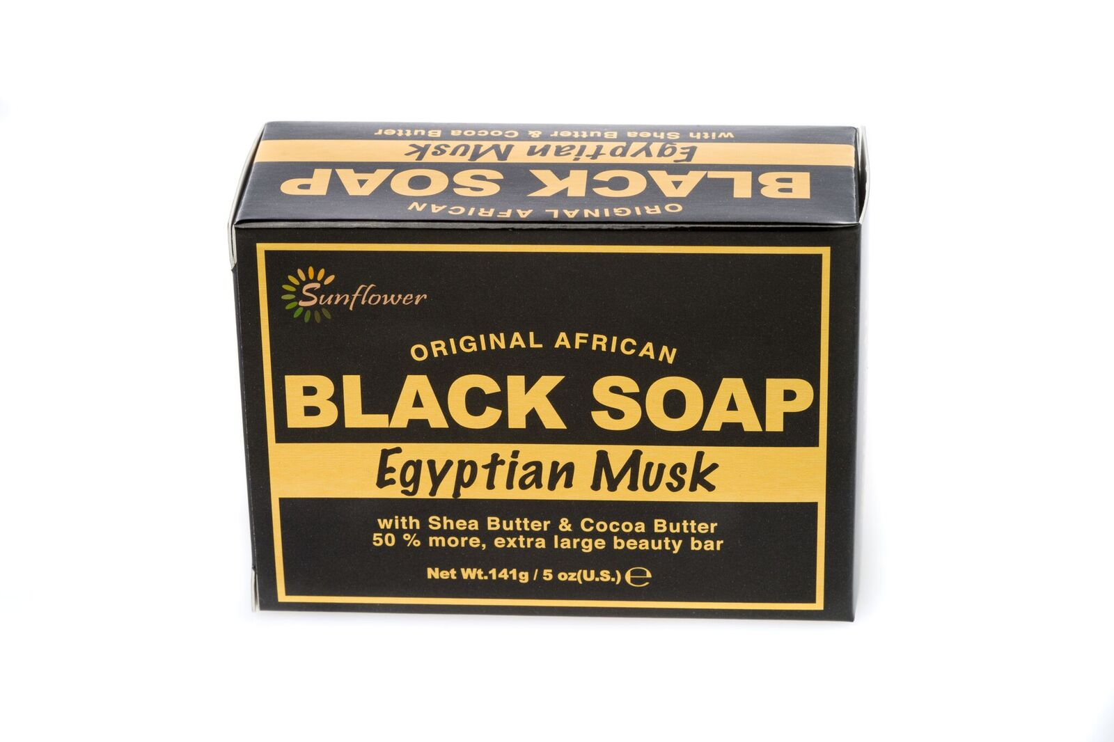 "AFRICAN BLACK SOAP ""EGYPTIAN MUSK"" - 5OZ"