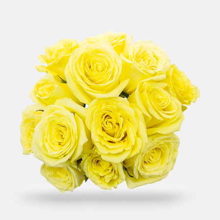 1 Dozen Rose Bouquet - Yellow