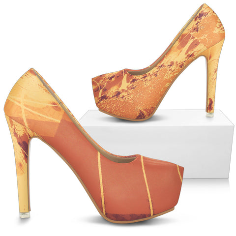 LORAH HIGH HEELS BY ANG-BOI COLLECTION® (HARVEST GOLD/MAROON)