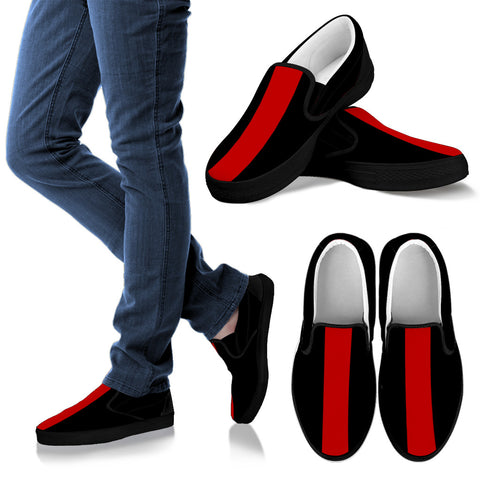 ALEX SLIP ONS (BLACK&RED) BY ANG-BOI COLLECTION