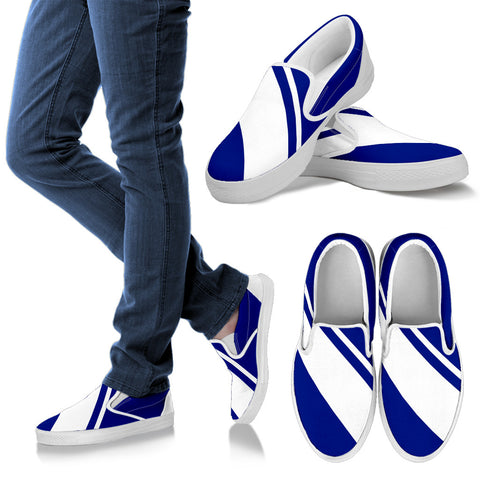 ALEX SLIP ONS (ROYAL BLUE&WHITE) BY ANG-BOI COLLECTION