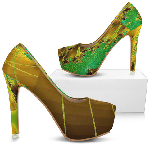 LORAH HIGH HEELS BY ANG-BOI COLLECTION® (GREEN/ECRU
