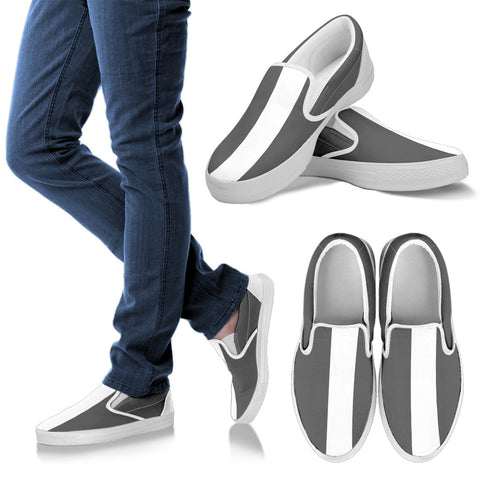 Alex Slip Ons (GREY&WHITE) By Ang-Boi Collection