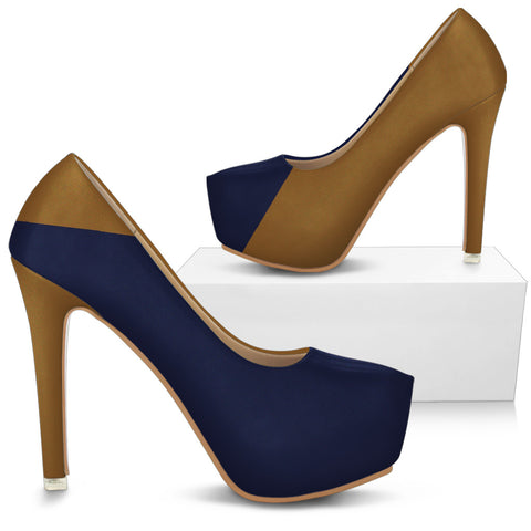 LORAH HIGH HEELS BLUE/TAN BY ANG-BOI COLLECTION®