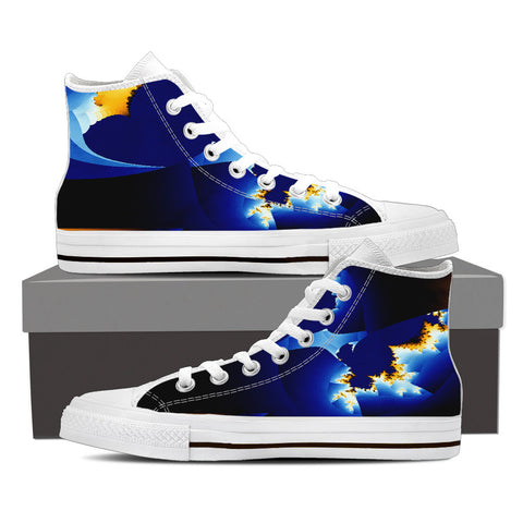 ANU589 MENS HIGH TOP SHOES - Blue