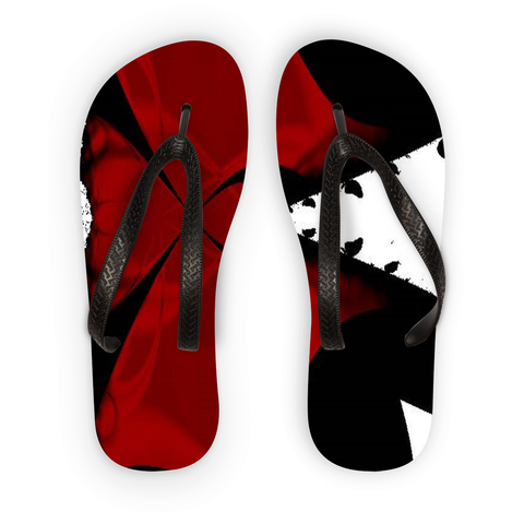 Flip Flops Red/Black Fraz Ang-Boi Collection®USA