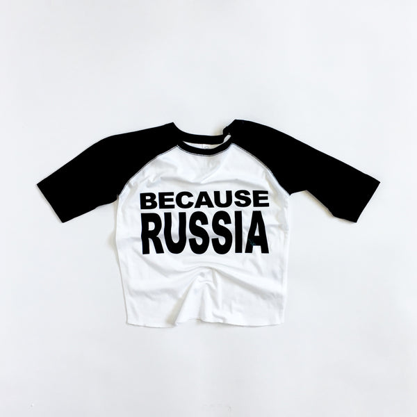 BECAUSE RUSSIA - TODDLER JERSEY TEE - Single-Payer Benefits US