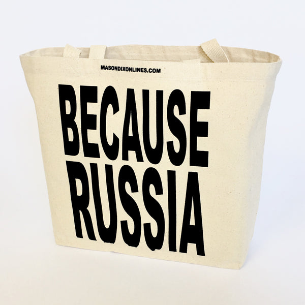 BECAUSE RUSSIA LARGE CANVAS TOTE - Single-Payer Benefits US