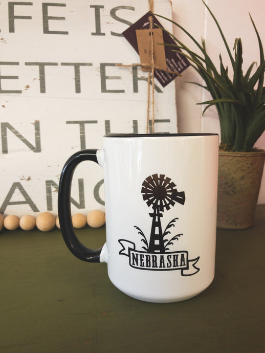 Nebraska Windmill 12oz Mug