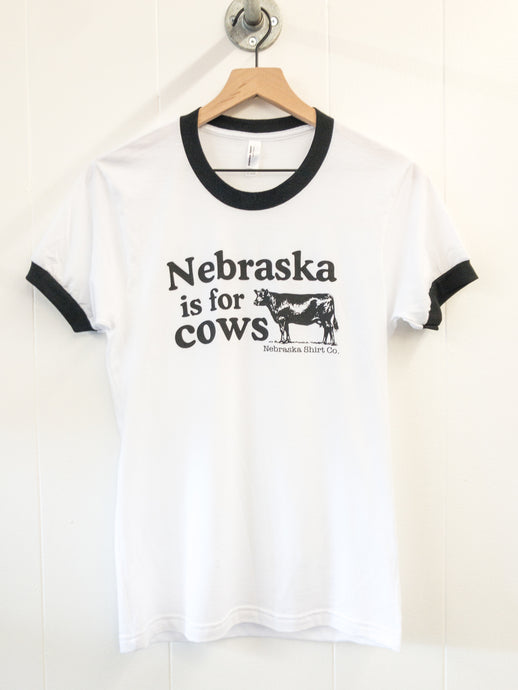 Nebraska is for Cows Unisex Ringer Tee