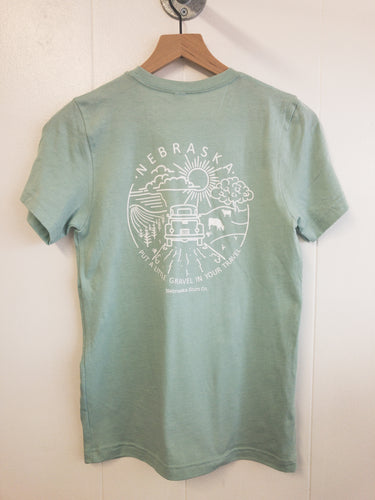 Gravel In Your Travel Unisex Tee - Sea Green
