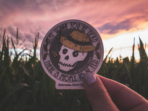 Rest When You're Dead Die-Cut Sticker