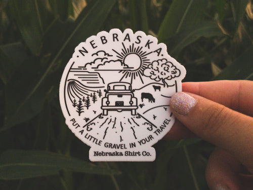 Gravel in Your Travel Die-Cut Sticker