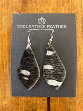 The Leather Feather Earrings