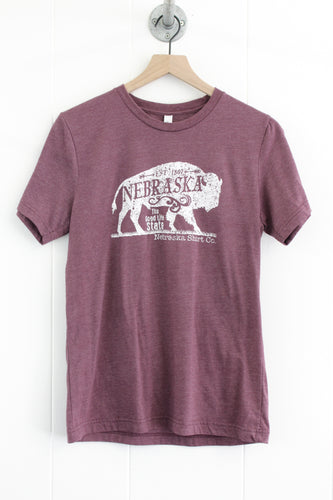 Buffalo Unisex Tee - Heather Purple