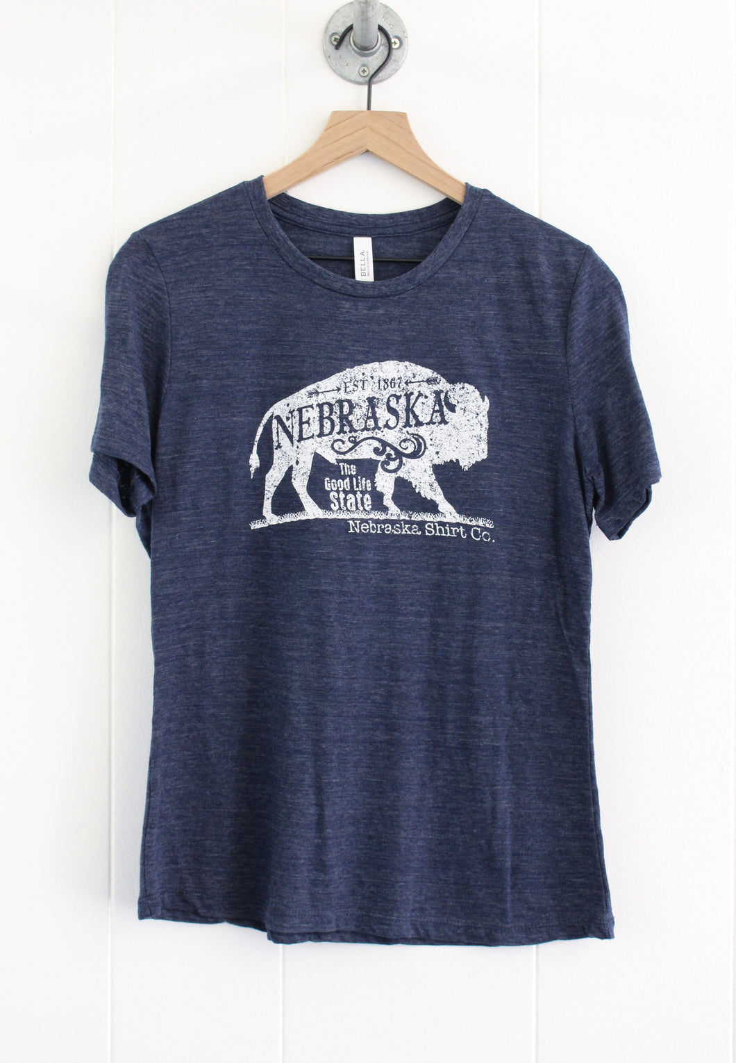 Buffalo Women's Relaxed Tee - Vintage Navy
