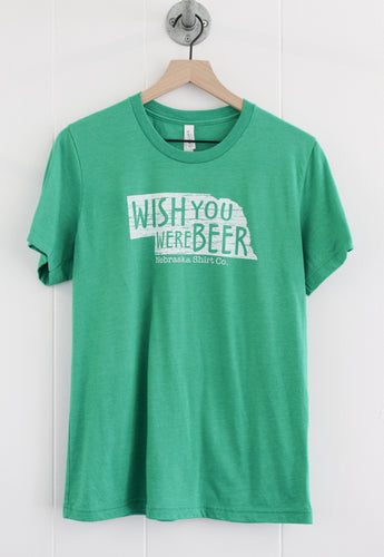 Wish You Were Beer Unisex Tee - Kelly Green