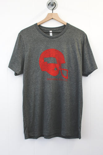 Nebraska Football Helmet Tee - Heather Grey