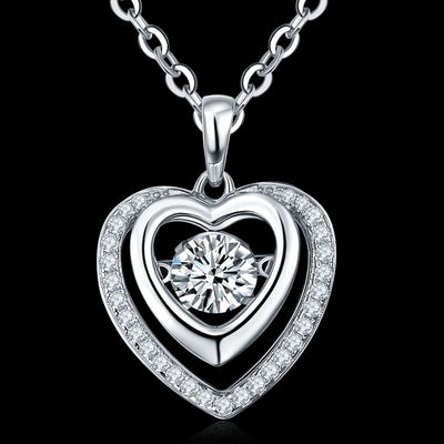 Suspension Heart Pendant (925 Sterling Silver)