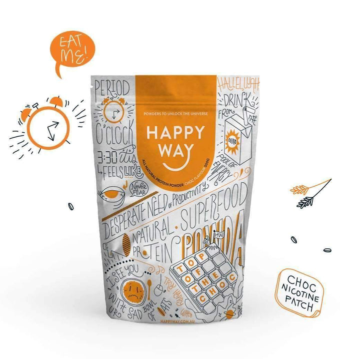 Top of the Choc (Choc Whey) Protein Powder 500g,Fatburner,Happy Way,Happy Way