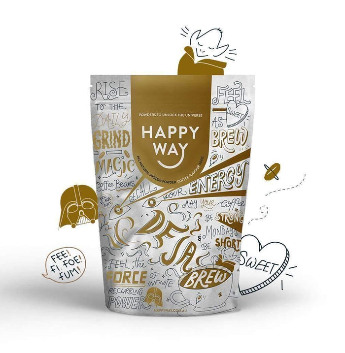 De Ja Brew Coffee Protein Powder 500g,Fatburner,Happy Way,Happy Way