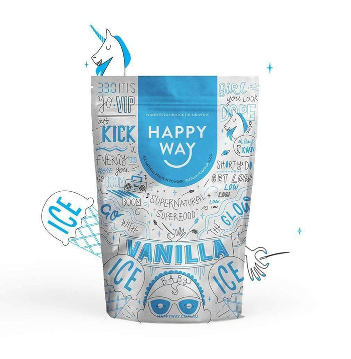 Vanilla Ice Ice Baby Protein Powder 500g,Fatburner,Happy Way,Happy Way