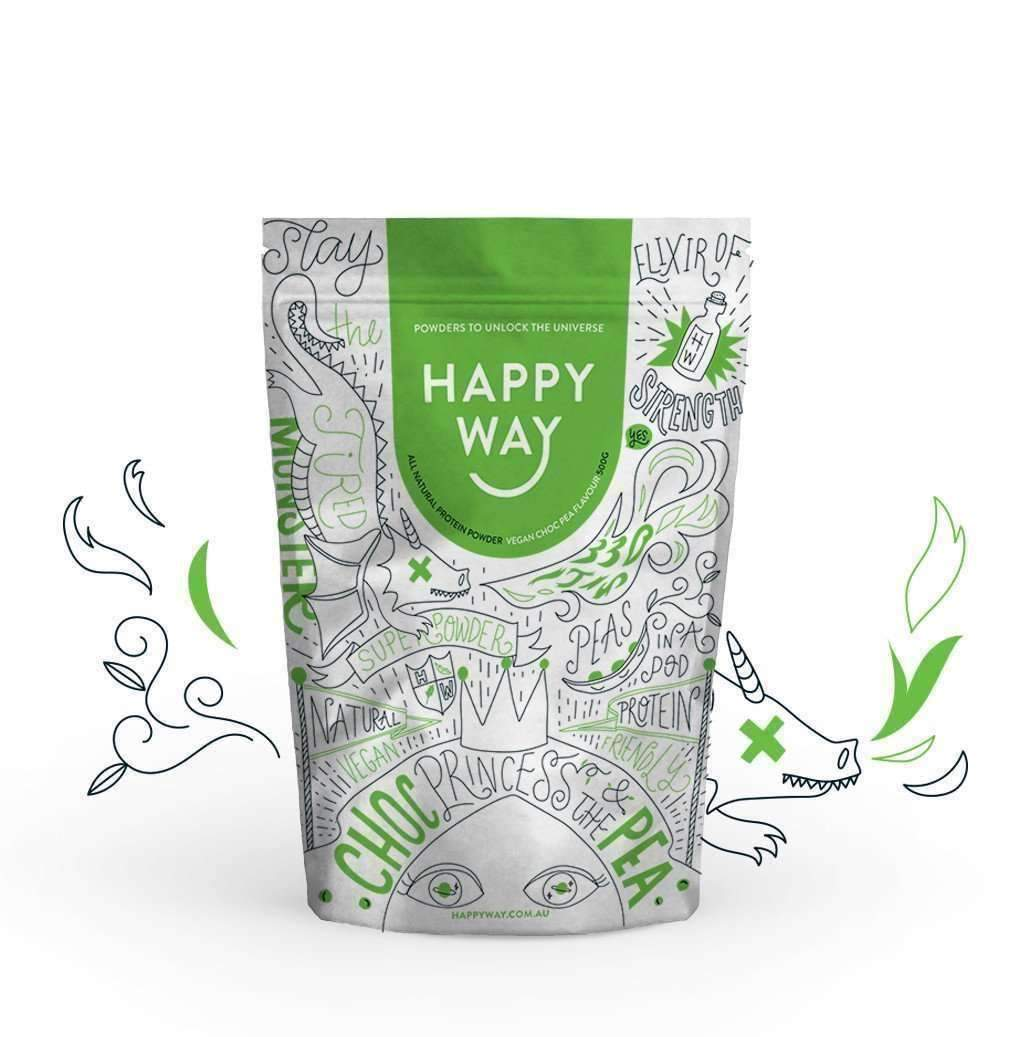 Choc Pea (Vegan) Princess Protein Powder 500g,Fatburner,Happy Way,Happy Way