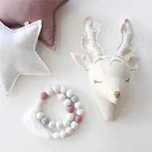 Cute 3D Animal Head Stuffed Plush Wall Decoration