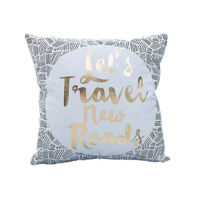 Gold Printed Cushion Cover