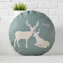 Round Cotton Animal Cushion Cover