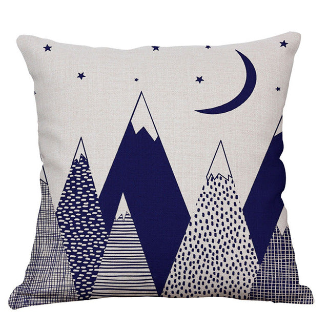 Cute Printed Cushion Cover Kids Decor