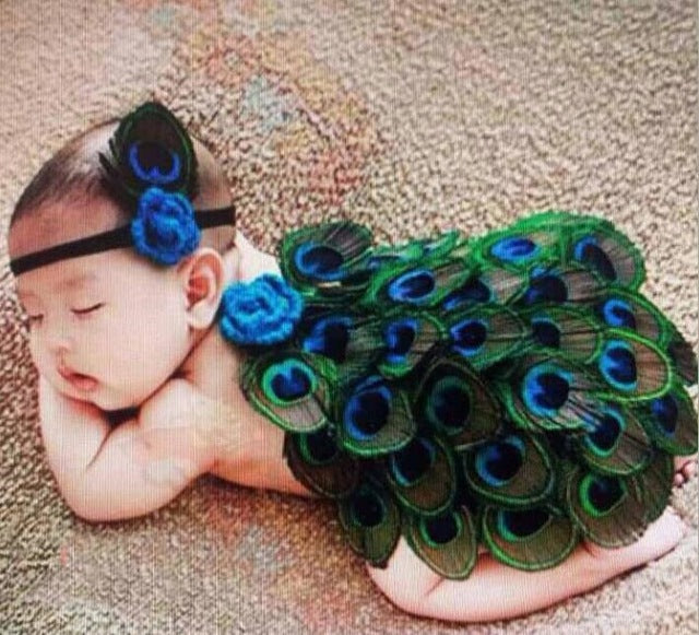 Baby Peacock Feather Costume