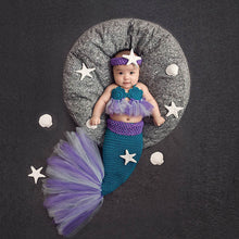 Purple Knitted Mermaid Costumes