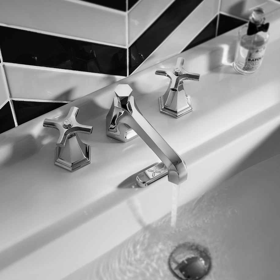 The Waldorf Crosshead Widespread Faucet