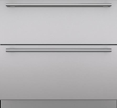 "Sub-Zero 7023704 Integrated 36"" Drawer Panels with Tubular Handles"