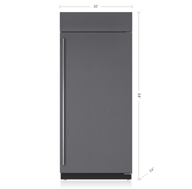 "SUB-ZERO 36"" BUILT-IN FREEZER - PANEL READY BI-36F/O"