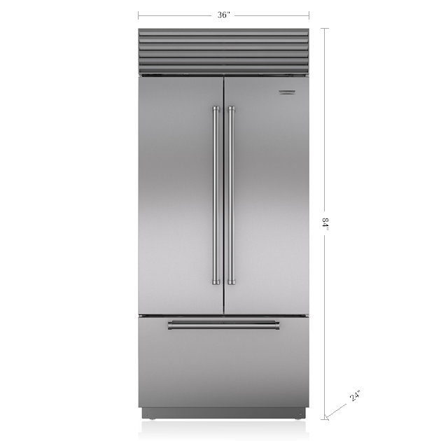 "SUB-ZERO 36"" BUILT-IN REFRIGERATOR/FREEZER WITH INTERNAL DISPENSER BI-36UFDID/S"
