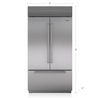 "SUB-ZERO 42"" BUILT-IN FRENCH DOOR REFRIGERATOR/FREEZER BI-42UFDID/S"