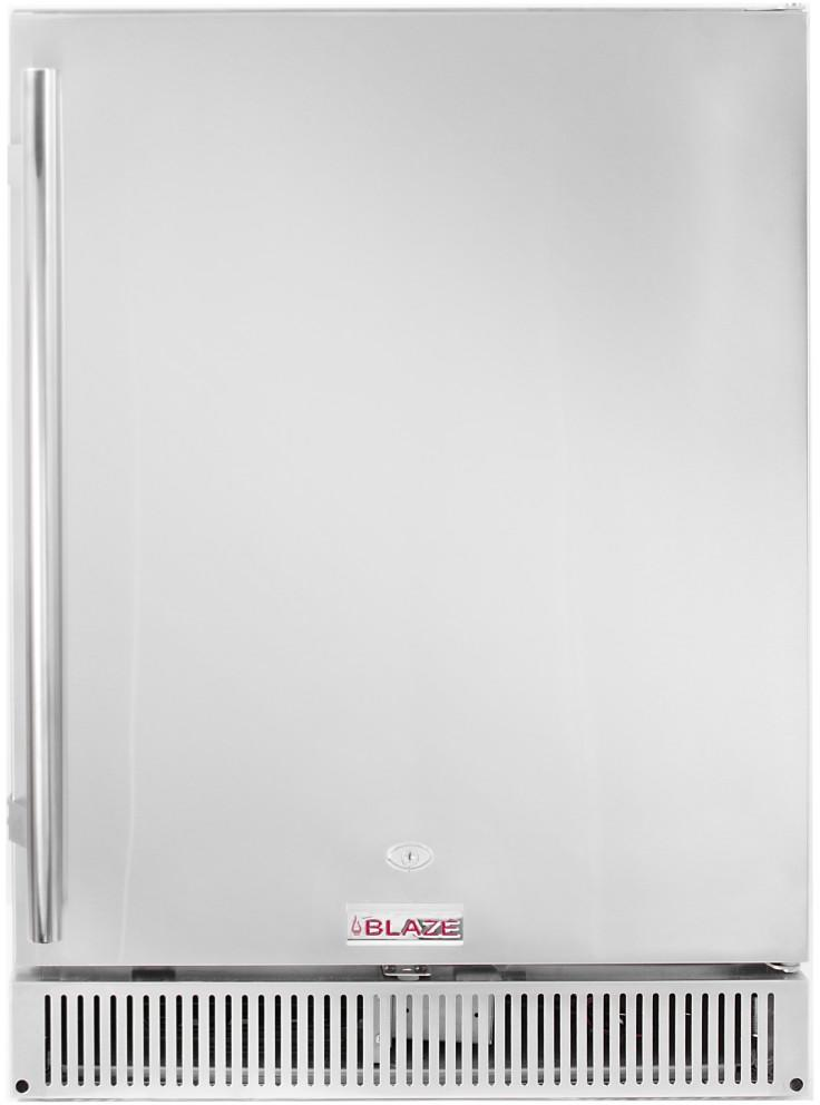 "Blaze Outdoor Rated Stainless 24"" Refrigerator 5.2 CU BLZ-SSRF-50DH"