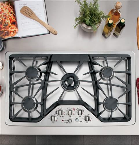 "GE CGP650SETSS Café™ Series 36"" Built-In Gas Cooktop"