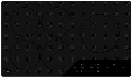 "WOLF 36"" CONTEMPORARY INDUCTION COOKTOP CI365C/B"