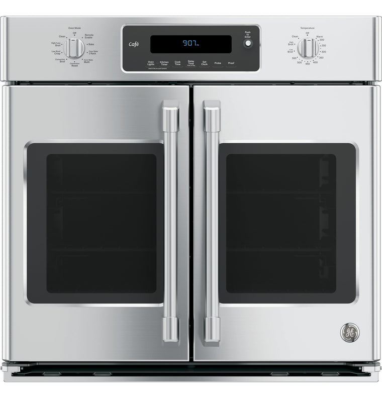 GE Cafe Series CT9070SHSS 30 Inch Single French Door Electric Wall Oven