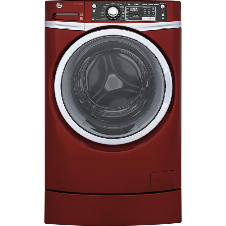 GE RightHeight Design Series GFW490RPKDG 28 Inch Front Load Washer