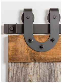 HORSESHOE BARN DOOR HANGER