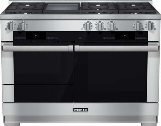 Miele M-Touch Series HR1956DFGD 48 Inch Pro-Style Dual-Fuel Range