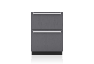 Sub-Zero ID24FI 24 Inch Integrated Double Freezer Drawer