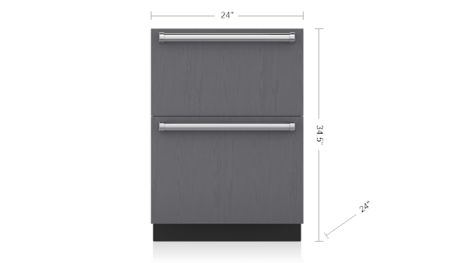 "SUB-ZERO ID-24R 24"" REFRIGERATOR DRAWERS - PANEL READY"