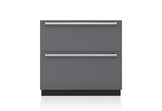 Sub-Zero ID36C 36 Inch Integrated Double Drawer Refrigerator and Freezer