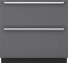 Sub-Zero ID36RP 36 Inch Integrated Double Drawer Refrigerator